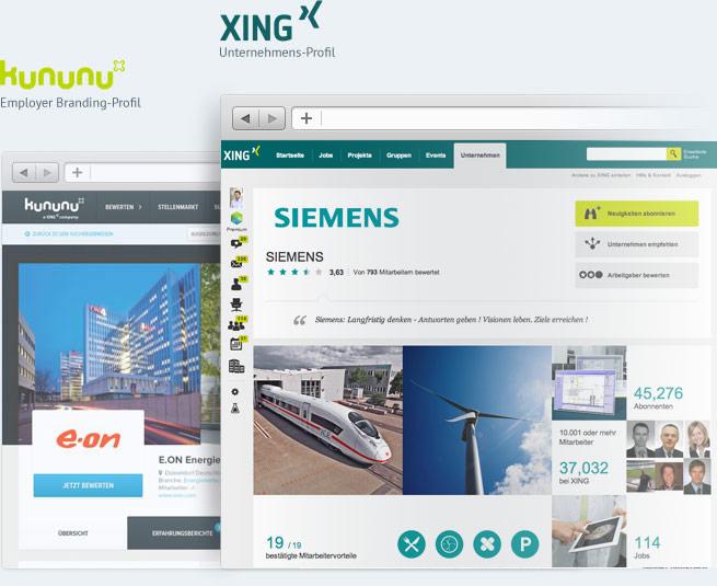 Das employer branding profil von kununu xing for Business netzwerk