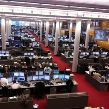Händlersaal der Commerzbank in Frankfurt
