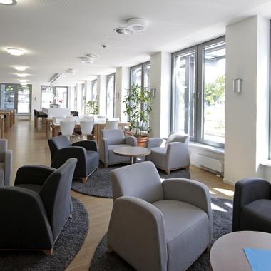 Bistro in der Hamburger Zentrale