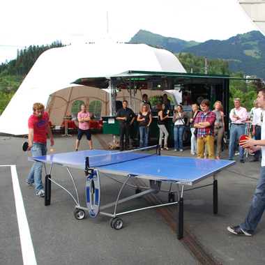 Beim Tischtennisturnier vom Sommerfest 2011...