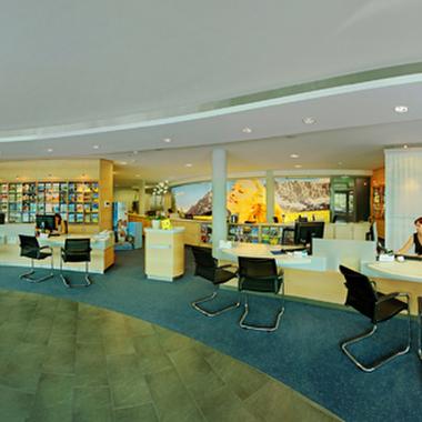 Das Reisebüro in der Kitzbüheler Zentrale