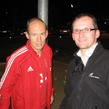 Auf dem Event in München logierten die Stars des FC Bayern München im selben Hotel.