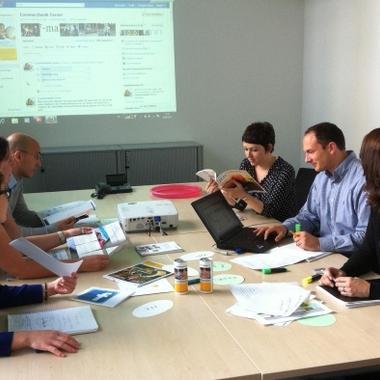 Das Team von Commerzbank Career bei der wöchentlichen Konferenz