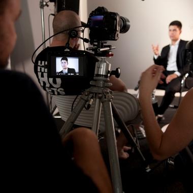 Ein Darsteller bei der Verfilmung des SelfAssessment Probier-dich-aus.de
