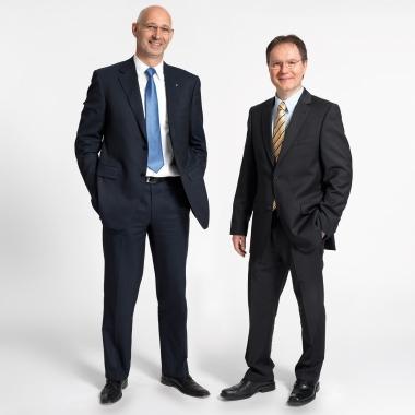 Die Vorstände Michael Englert und Dr. Helmuth Stahl leben den mitarbeiterorientierten Führungsstil vor.