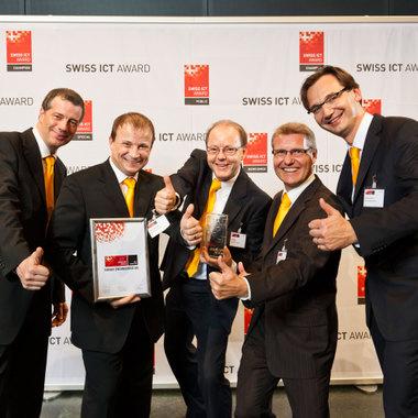 """In der Kategorie """"Champion"""", in der erfolgreiche, etablierte Schweizer ICT-Firmen ausgezeichnet werden, hat es Noser Engineering an die Spitze geschafft"""