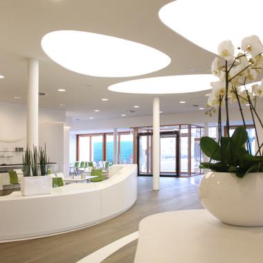 Das Foyer in der Unternehmenszentrale
