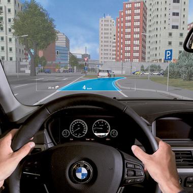 Forschungsprojekt Augmented Reality – kontaktanaloges Head-up-Display. Unsere IT-Consultants sind an der Entwicklung der BMW Group beteiligt