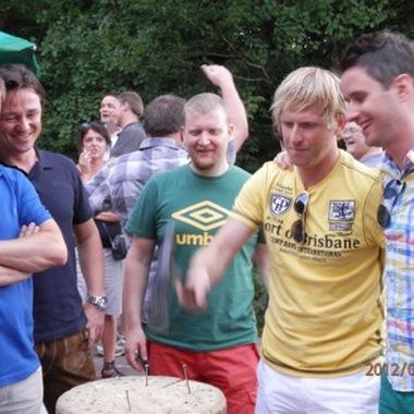 Nageln beim Sommerfest am Laimer Urschlag!