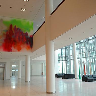 Die Eingangshalle unserer Niederlassung in Düsseldorf.