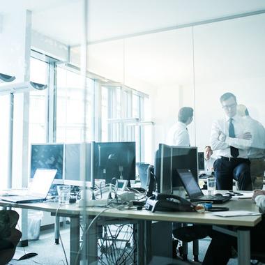 Unsere Büros sind offen, hell und kommunikationsfreundlich