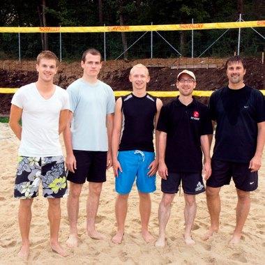 Beachvolleyball-Spiel am Sportplatz Leonding-Doppl