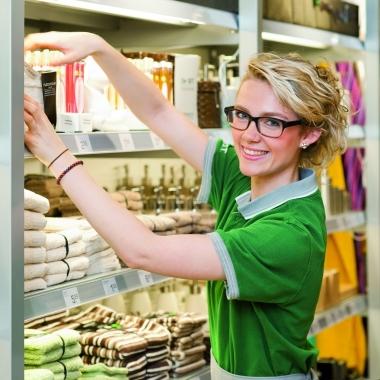Unsere VerkäuferInnen achten immer auf  entsprechende Warenpräsentation