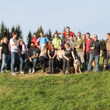 Gipfelsturm beim gemeinsamen Wandertag!