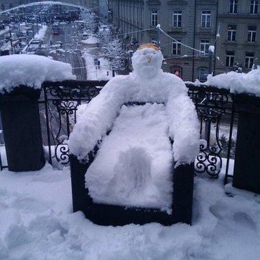 Schönster Balkon der Stadt Bern, auch im Winter