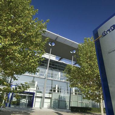 Die EnBW-Zentrale am Standort Karlsruhe.