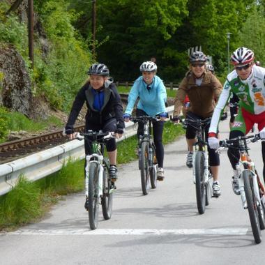 Mountainbiken für Mitarbeiterinnen und Mitarbeiter mit unserem Energie AG-Sportler Roman Rametsteiner.