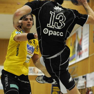 Opacc fördert Sport und Kultur: Hier z.B. die Handballer des NLA Spitzenclubs HC Kriens-Luzern