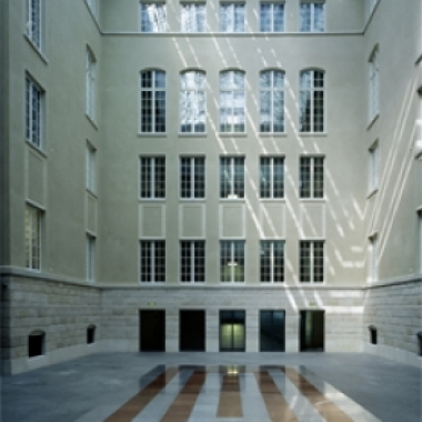 Innenhof des Hauptgebäudes in Zürich.