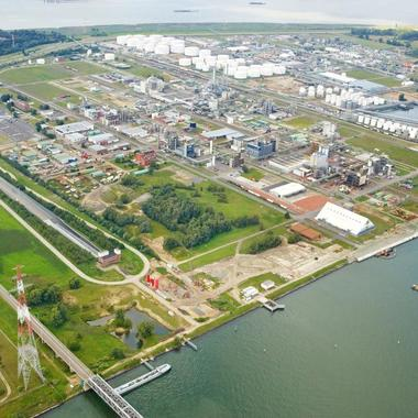 Blick auf den Evonik-Standort Antwerpen.