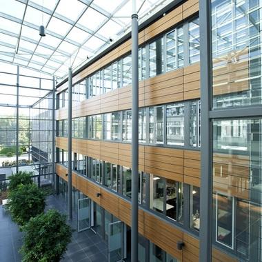 Einblick in das Atrium in Bielefeld