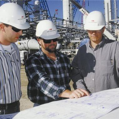 Planungsingenieure auf der Anlage