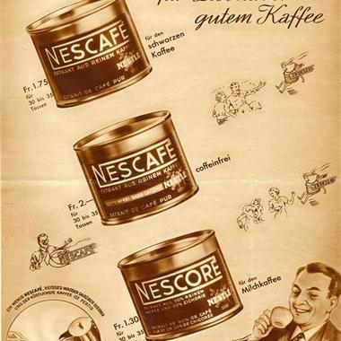 Eine Zeitungsanzeige in der Schweiz aus dem Jahr 1938.