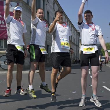 Unsere Jungs wollten beim Linz Marathon hoch hinaus