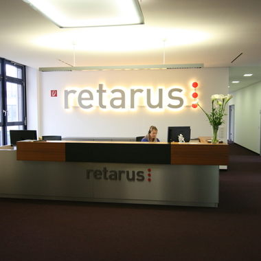 Retarus HQ München - Empfang