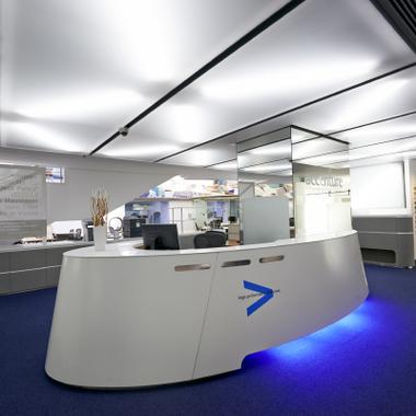 Empfangsbereich im Wiener Accenture