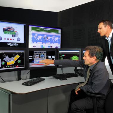 Schneider Electric Head Office Monitoring Desk
