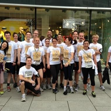 """Running into the next decade"" beim J.P. Morgan Corporate Challenge in Frankfurt"