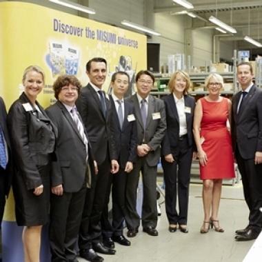 10 Jahre MISUMI Europa GmbH – Pressekonferenz, u.a. mit dem Hessischen Wirtschaftsminister und dem Japanischen Generalkonsul
