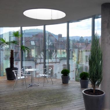 Dachterrasse Geschäftsstelle Freiburg