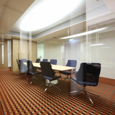 Blick in den Besprechungsbereich im Münchner Bank Haus am Frauenplatz