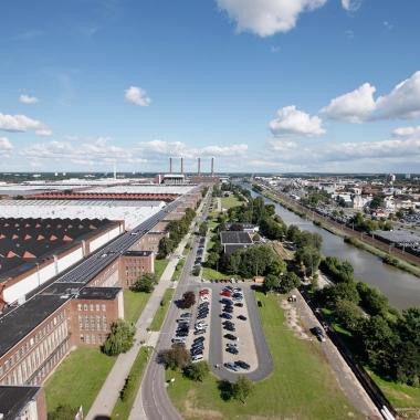 Werk Wolfsburg. Blick über den südlichen Teil.
