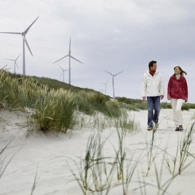 In einem Windpark sind Leistungshalbleiter im Wert von 9.000 EUR pro Megawatt installiert.