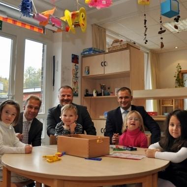 """Im betriebseigenen Kindergarten """"Die S+C Pänz"""" werden 15 Kinder betreut."""