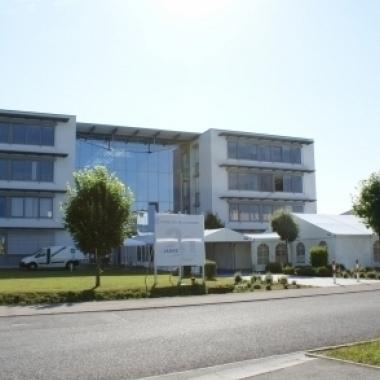 Software-Schmiede solutio GmbH: Das Firmengebäude in Holzgerlingen.