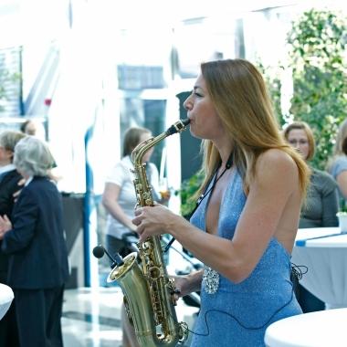 Musikalisches Highlight: Saxophonistin Natalie Marchenko.