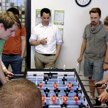 Spiel, Spaß, Kicker: Jedes Jahr kämpfen ambitionierte Fußballfans um den Kicker-Pokal.