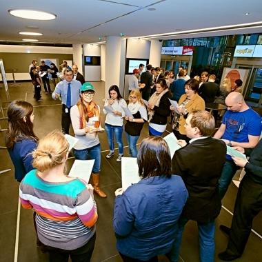 Der Welcome Day dient dazu, unsere Unternehmensgruppe kennenzulernen und sich innerhalb dieser mit KollegInnen zu vernetzen. © Peter Svec