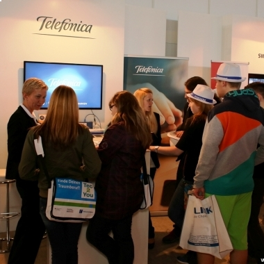 Telefónica Messestand auf der CeBIT 2014 job and career