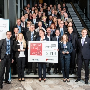 Verleihung des Awards Beste Arbeitgeber ITK 2014