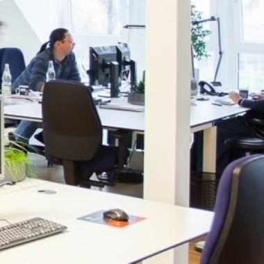 Unsere Büros bieten viel Platz für kreative Entfaltung.