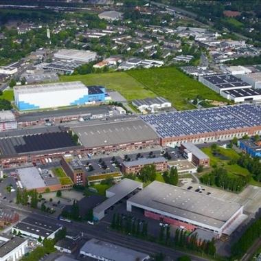Unsere Zentrale in Krefeld von oben