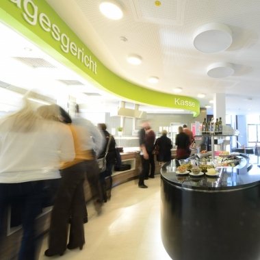 Die Kantine in der Münchner Firmenzentrale