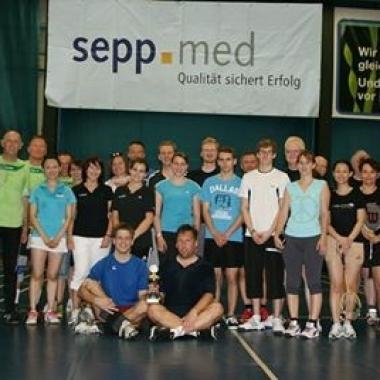 sepp.med organisierte das Badmintonturnier der vitalen Unternehmen im Landkreis ERH.