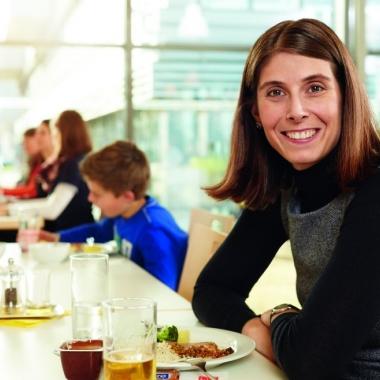 Einblick in das Betriebsrestaurant am Standort Waldkirch