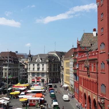 Der Ausblick aus dem Basler Office